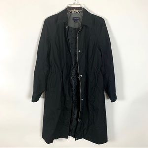 Lands End Black Zip and Button Front Jacket Size S